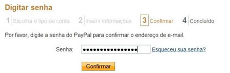 Password segura paypal