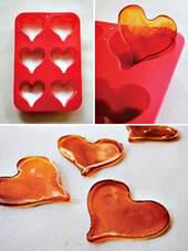 corações de caramelo