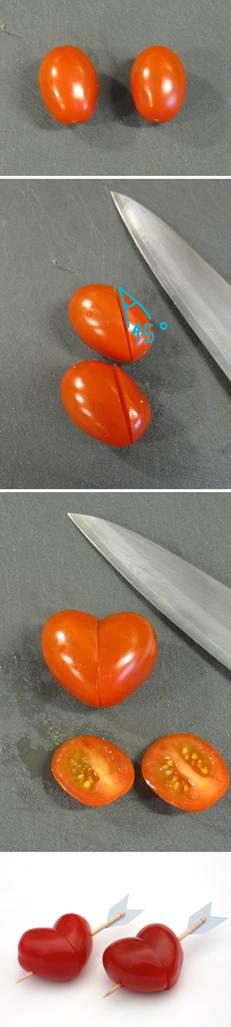 Corações de tomates