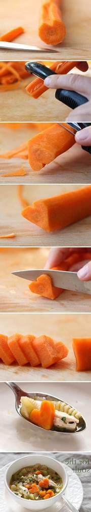 corações de cenoura