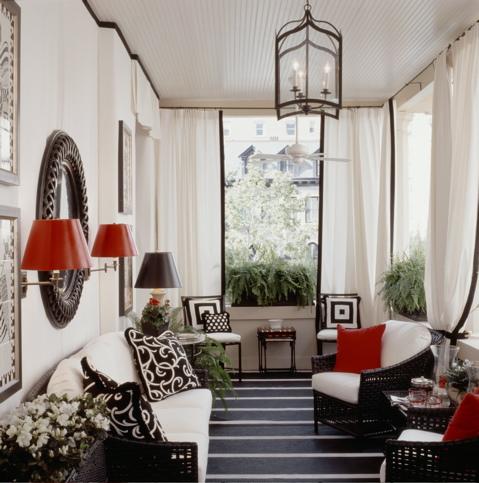 Decora o da casa com vermelho a nossa vida Decoraciones para porches de casas