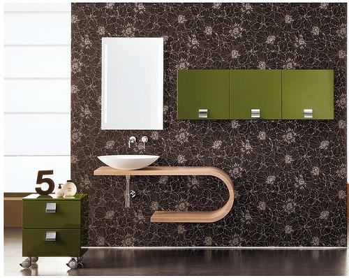 Projecto casa de banho com verde