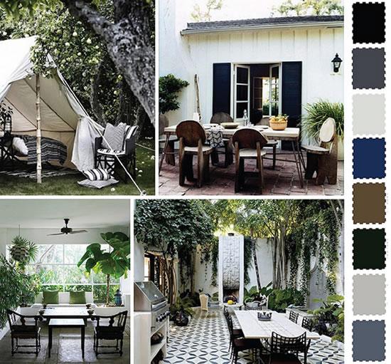 ideias jardins moradiasIdeias e cores para decorar o jardim e o