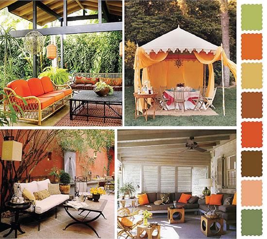 Colorful Outdoor Deck Decorating Ideas: Ideias E Cores Para Decorar O Jardim E O Exterior Da Casa