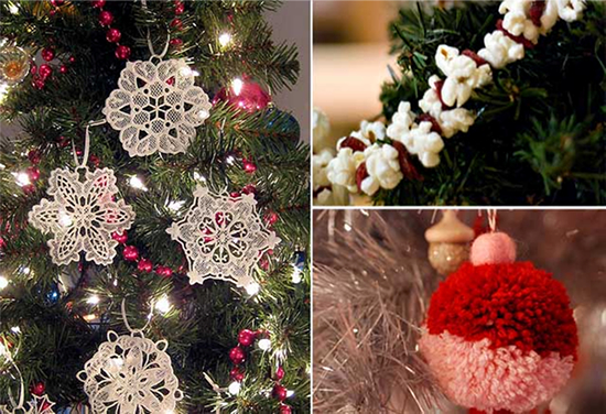 Decorações do pinheiro de natal