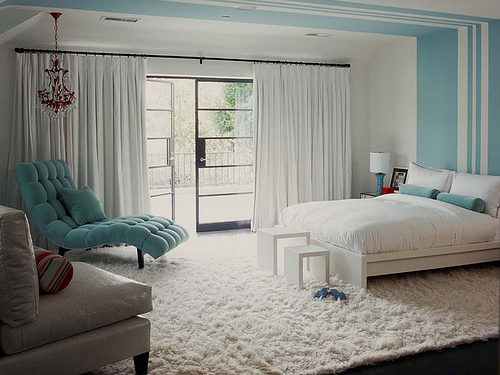quarto feminino decorado azul claro