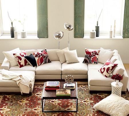 O sofá é a camisa branca da casa