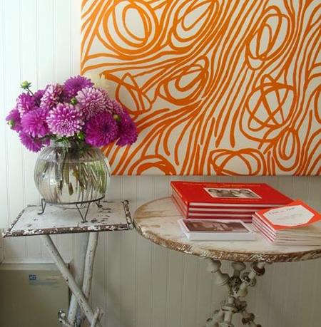 Usar quadros de tecido como arte