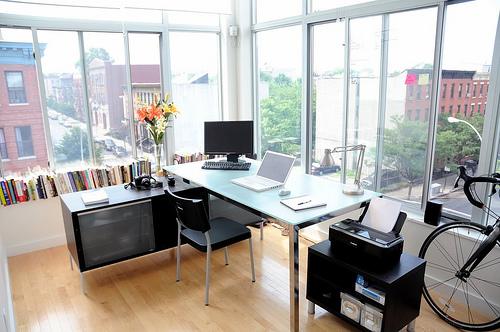 18 dicas para organizar o escritório A Nossa Vida -> Escritorio Decorado Pequeno