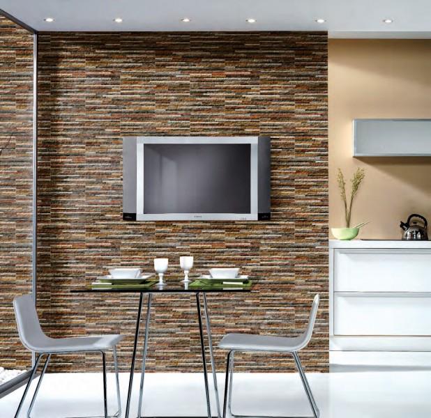 Decora o interior com xisto a nossa vida for Azulejo para pared de sala